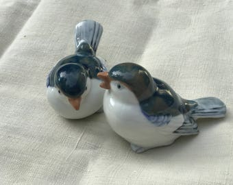 set of ceramic birds