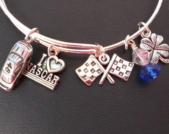 Jimmy Johnson number 48 NASCAR bracelet !Adjustable bangle bracelet ! NASCAR bracelet !