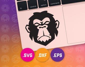 monkey eps, monkey vector, monkey cricut, monkey svg, monkey dxf, monkey cut file, jungle dxf, jungle cut file, ape svg, jungle svg, ape dxf