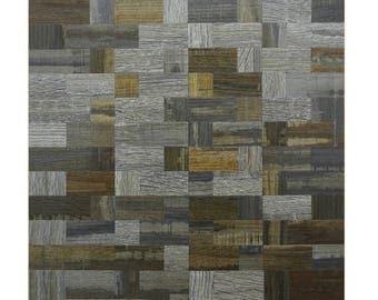 Self adhesive mosaic tiles