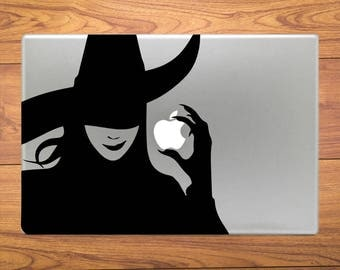 Wicked Witch Evil Macbook Decal Stickers Mac Pro / Air / Retina Sizes 13 / 15 / 17 Laptop