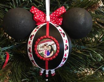 Minnie Mouse Custom Photo Ornament