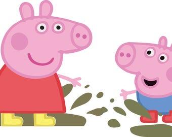 Peppa Pig Vector Etsy