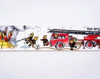 Wooden 'Teddy Fire Fighter' Jigsaw Puzzle