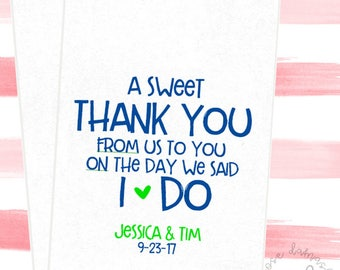 A Sweet Thank You From Us To You, Favor Bags, Popcorn Bags, Candy Buffet Bags, Cookie Bags, Wedding Favors, RD041
