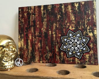 Abstract Mandala Acrylic Painting