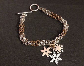Chainmaille Charm Bracelet