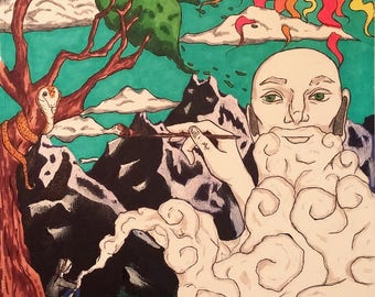 """Psychedelic, marijuana, cannabis, weed art - """"Seeing Clearly"""""""