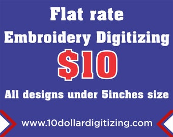 Custom Machine Embroidery Digitizing, your Logo Digitized,flat rate embroidery digitizing,digitizing and Vector art service