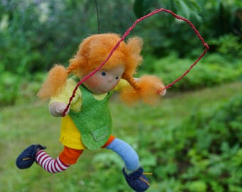 Pippi with skipping rope