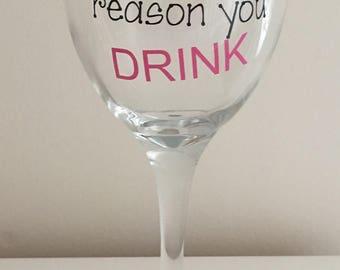 Thank You Teacher Wine Glass