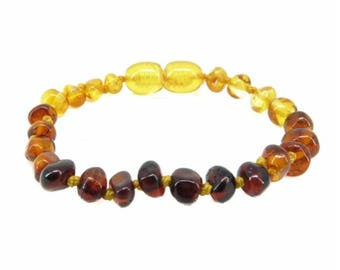 Rainbow Baroque Baltic Amber Teething Bracelet / Anklet