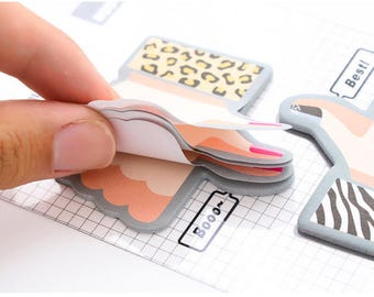 24 pcs  Creative Thumb Memo Pad Sticky Notes --- School Supply