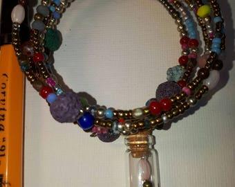 Multicolour bracelet 7 laps