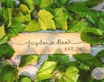 Wedding gift | Couples gift | Keepsake gift | Gift for couples | wedding present | Wooden Name sign | Established sign | engagement gift