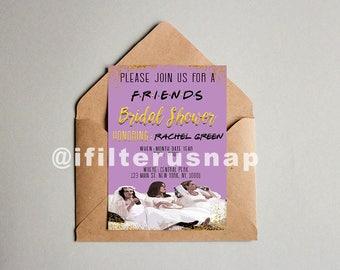 Friends Theme Bridal Shower Invitation 5x7