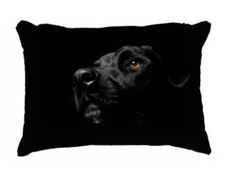 Black Lab pillow cover