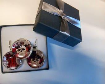 """Gothic"" earrings & ring set"