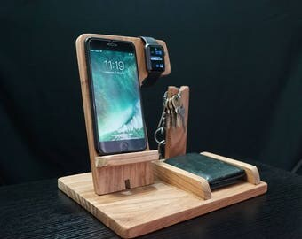 Docking station,gift him,charging station,iphone dock,iphone stand,cell phone stand,desck organizer,android docking station