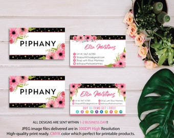Piphany Business Cards, Piphany Punch Card, Custom Piphany Business Card, Buy 10 Get 1 Free, Printable Card - PERSONALIZED PP07