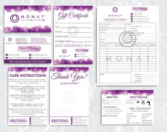 Sales!! Monat Mini Kit, Custom Monat Business Card, Monat Hair Care, Monat Global Marketing Cards, Watercolor Cards, Printable Card MN07