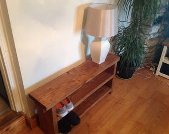 Hand made double shoe bench