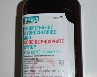 EMPTY Promethazine with Codeine Syrup Cough Syrup bottle with CAP