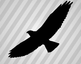 Swainson's hawk Silhouette - Svg Dxf Eps Silhouette Rld RDWorks Pdf Png AI Files Digital Cut Vector File Svg File Cricut Laser Cut