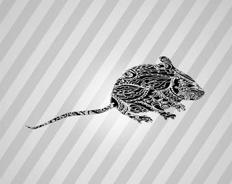 Mouse Silhouette - Dxf, Svg, Eps, Rld, Rdworks, Pdf, Png And Ai Print Files, Digital Cut, Vector File, Svg File