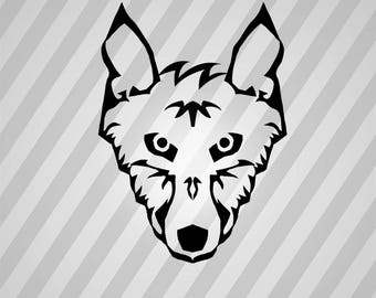 Wolf Silhouette Line Art - Svg Dxf Eps Silhouette Rld RDWorks Pdf Png AI Files Digital Cut Vector File Svg File Cricut Laser Cut