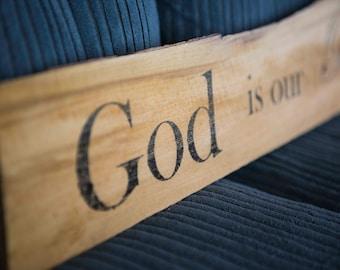 God is our Refuge (Ps. 46:1) Key Hanger Wall Art