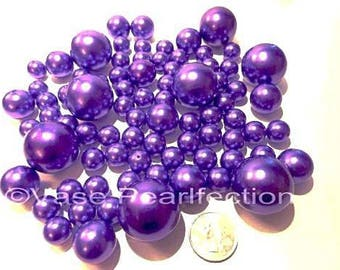 All Purple Pearls Pearls Vase Fillers in Jumbo and Assorted Sizes for Event Centerpieces