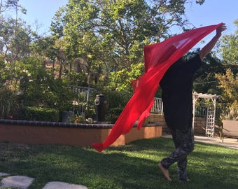 Jesus' blood solid red pure silk (100%)XL worship shawl