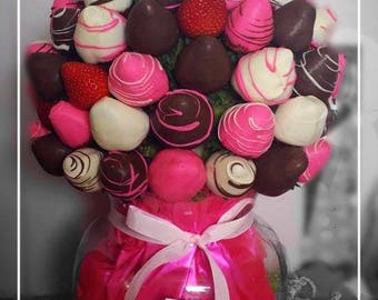 Chocolate Strawberry Pom Poms