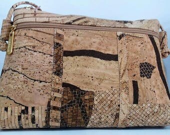 Handbag made in Cork - Fine Cork Handbag - Cork Purse - Eco-friendly Shoulder Bag