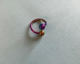 Rainbow Spiral Barbell