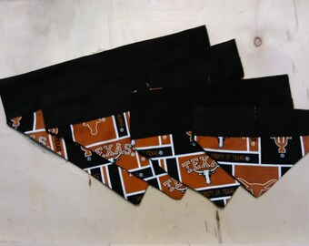 Longhorn scarf 5 sizes over collar