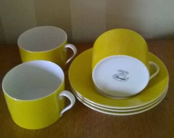 Porcelaine de Limoges. 3 x Cup and dish marked Rosenfeld.