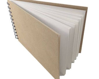 Artway Enviro Wirobound A4 Sketchbook (Landscape) - 100% Recycled Cartridge Paper - Hardboard Cover - 170gsm - 35 pages