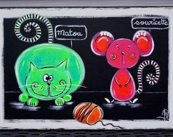 Kids table cat mouse unique modern