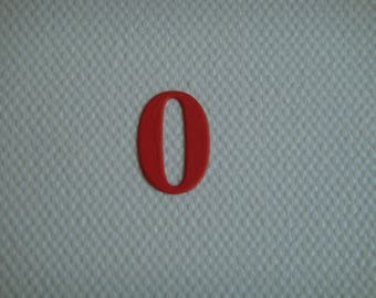 "Set of 10 numbers ""0"" for creating red drawing paper"