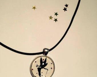 "Rubber pendant 25 mm ""Fairy"" Choker necklace"