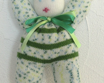 Cuddly soft and fun Pixie in wool for baby or child girl or boy knitted by hand