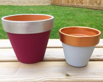 Painted Pots & Planters Small