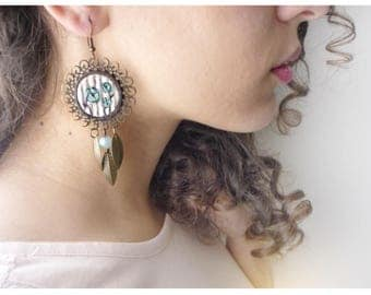 antique bronze earrings and pendants vintage style