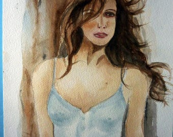 a beautiful modern young woman sensual