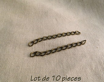 bronze nickel - free 5 x 3 mm A22355 10 chains of extension-
