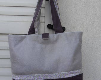 Tote / purse purple leather