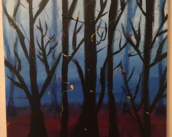 Stranger Things Forest Painting