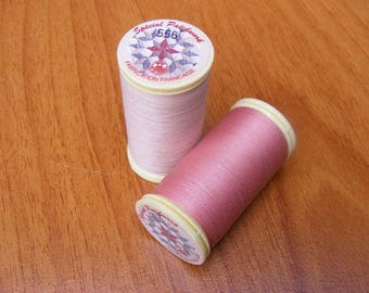 set of two thread spools pink Patchwork 556/502